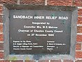 Sandbach Inner Relief Road plaque 1986.jpg
