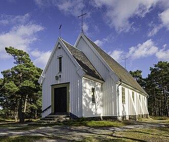 Sandhamn - Sandhamn chapel in Sandhamn, Stockholm archipelago. Built 1934-35. Djurö, Möja och Nämdö parish, Church of Sweden.