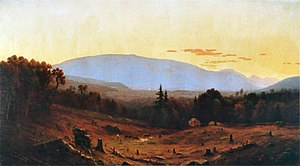 State University of New York College of Environmental Science and Forestry - Hunter Mountain, Twilight (1866) by Hudson River school artist Sanford Robinson Gifford, showing the devastation wrought by years of tanbarking and logging.