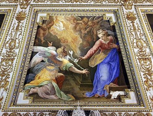 Santuario di loreto, sala del pomarancio, volta 09 annunciazione 1.jpg