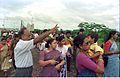 Saroj Ghose Controlling Queue - Dinosaurs Alive Exhibition - Science City - Calcutta 1995-07-31 363.JPG