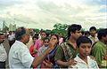 Saroj Ghose Controlling Queue - Dinosaurs Alive Exhibition - Science City - Calcutta 1995-07-31 364.JPG