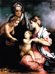 Madonna with child, Saint Elizabeth, and Saint John