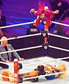 Sasha Banks Frog splash tribute Wrestlemania 32.jpg