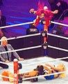 Sasha Banks Frog splash tribute Wrestlemania 32.jpg