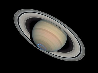 Auroras on Saturn