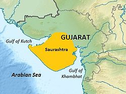 Saurashtra region within Gujarat, India