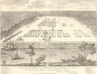 Colonial history of the United States - Savannah, Georgia Colony, early 18th century