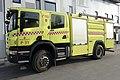Scania Rescue Fire truck P380 Crewcab Rosenbauer Egenes brannteknikk Yellow Gul brannbil Porsgrunn kommune brannvesen feiervesen 2020-01-23 DSC02563.jpg