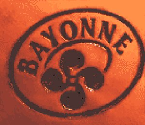 Bayonne ham -  Lauburu Mark applied to each Bayonne ham