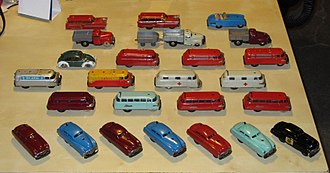 Schuco Modell - Various examples of the Schuco Varianto lineup.  Notice the very rare 3048 Patrol car in the lower right corner.