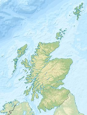 Map showing the location of Cairngorms
