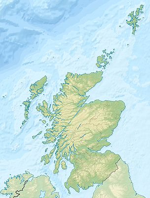 Location map Scotland relief