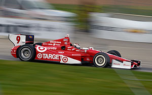 IndyCar Series - The 2012 DW12 chassis driven by Scott Dixon showing the rear wheel enclosure