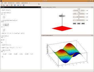 Scilab - A screenshot of Scilab running