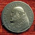 Scuola romana, medaglia di clemente VIII, 1598, 1600 arg.JPG