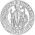 Seal of Bartholomew, Latin Bishop of Karditsa and Velestino (Schlumberger, 1897).jpg