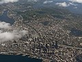 Aerial view of downtown Seattle.