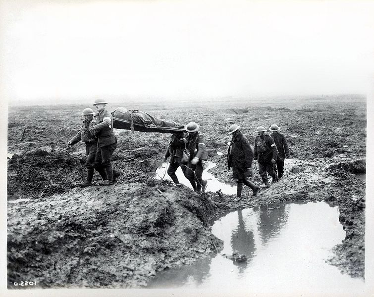 first experiences in the trenches of passchendaele