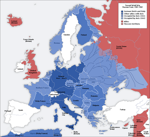 A map of German front of the Second World War ...