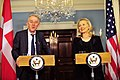 Secretary Clinton and Danish Foreign Minister Sovndal Hold a Joint Press Conference (6518534663).jpg