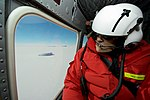 Secretary Kerry Looks out at an Iceberg During a Helicopter Tour in McMurdo Sound, Antarctica (30877661216).jpg