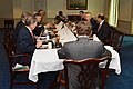 Secretary of Defense Chuck Hagel hosted a working lunch for Australian Minister for Defense Stephen Smith at the Pentagon (3).jpg