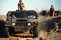 Security police of the 1701st Security Police Squadron patrol an area in an M1038 High-Mobility Multipurpose Wheeled Vehicle (HMMWV) during Operation Desert Storm. - DPLA - 846171d1cac39fd03f151a9edefe909c.jpg