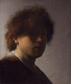 Self-portraits by Rembrandt - Image: Self portrait (1628 1629), by Rembrandt