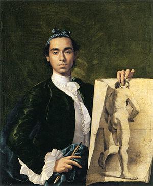Luis Egidio Meléndez - Self-portrait, oil on canvas, 1747, Musée du Louvre