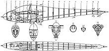 Sezioni di una fusoliera realizzata come semi-monoscocca