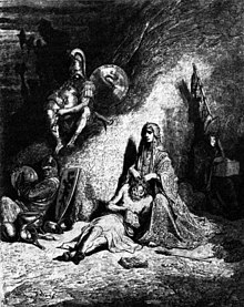 Semiramide, spidocchiatrice di straccioni, illustrazione di Gustave Doré del 1854