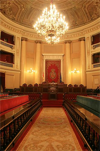 Senate of Spain - Image: Senado sala de plenos