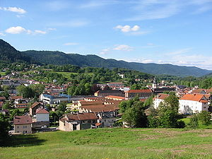 Senones, Vosges - View of the center of Senones