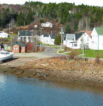 Alma, New Brunswick - Image: Settlement view from bridge