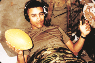 Shaggy (musician) - Shaggy during his military service with the United States Marine Corps.