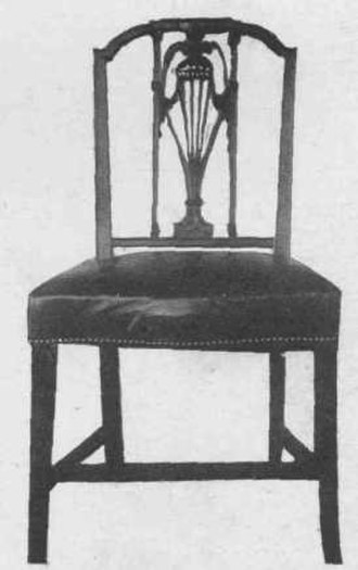 Sheraton style - A Sheraton style chair with rectangular back