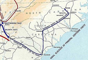 History of the Southern United States - Sherman's March through Georgia and the Carolinas