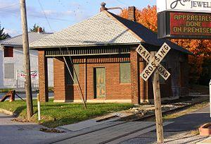 Shrewsbury, Pennsylvania - Stewartstown Railroad Rail station at Shrewsbury