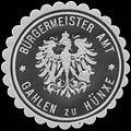 Siegelmarke Bürgermeister Amt Gahlen zu Hünxe W0349405.jpg