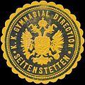 Siegelmarke K.K. Gymnasial Direction Seitenstetten W0320811.jpg