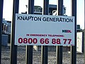 Sign at Knapton Power Station - geograph.org.uk - 545609.jpg