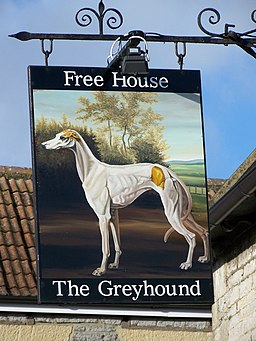 Sign for the Greyhound - geograph.org.uk - 1709084