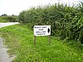 Sign indicating access track to gas drilling rig August 2006 - geograph.org.uk - 226318.jpg