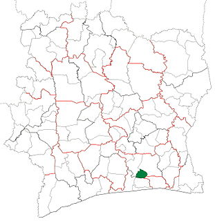 Sikensi Department Department in Lagunes, Ivory Coast