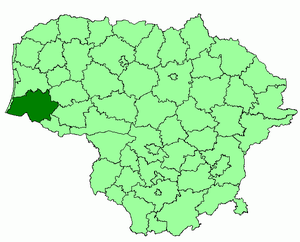 Šilutė District Municipality - Image: Silute district location