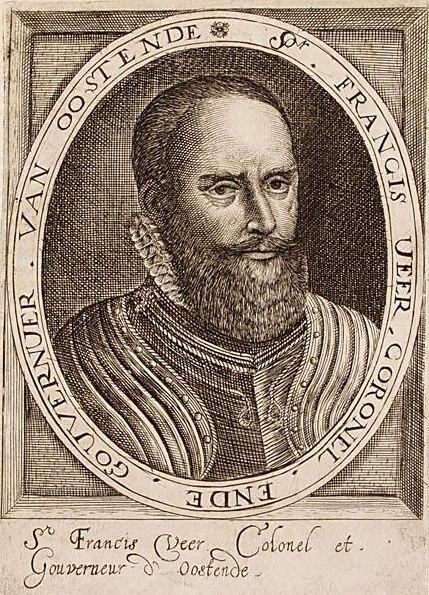 Sir Francis Vere - Portret van Franciscus Veer, Generaal en Gouverneur van Oostende (Aert Meuris)