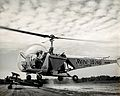 Sir Gordan Covell in a helicopter, Beltsville, Maryland. Pho Wellcome V0028086.jpg