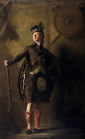 History of the kilt - Portrait by Henry Raeburn of Alexander Ranaldson MacDonell of Glengarry in 1812.