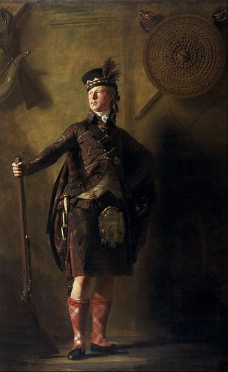 Highland Clearances - Portrait by Henry Raeburn of Alexander Ranaldson MacDonell of Glengarry in 1812. MacDonnell claimed to support Highland culture, while simultaneously clearing his tenants.